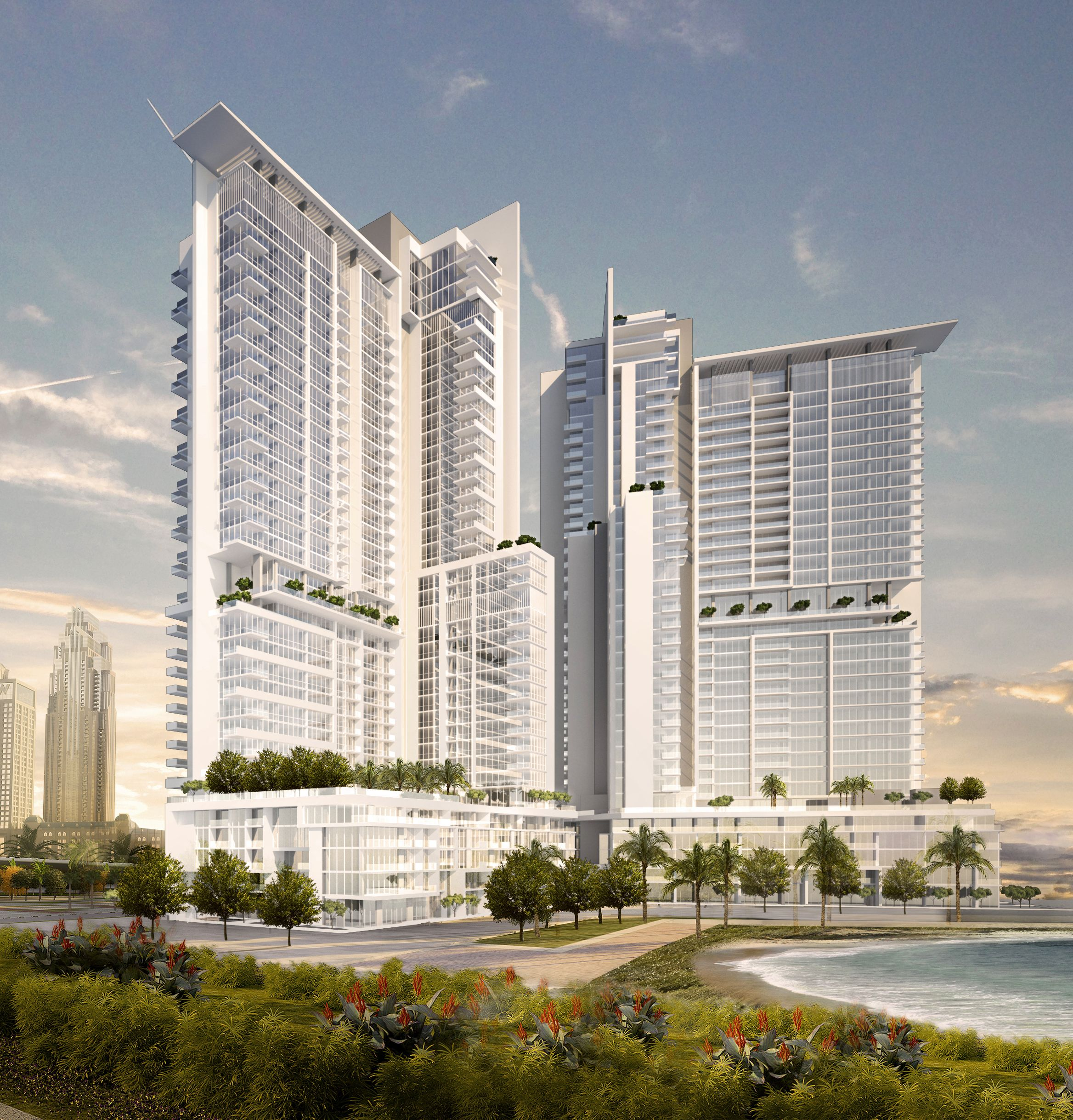 Ae7S Crystal Lagoon Towers, A Residential Development That Includes Two