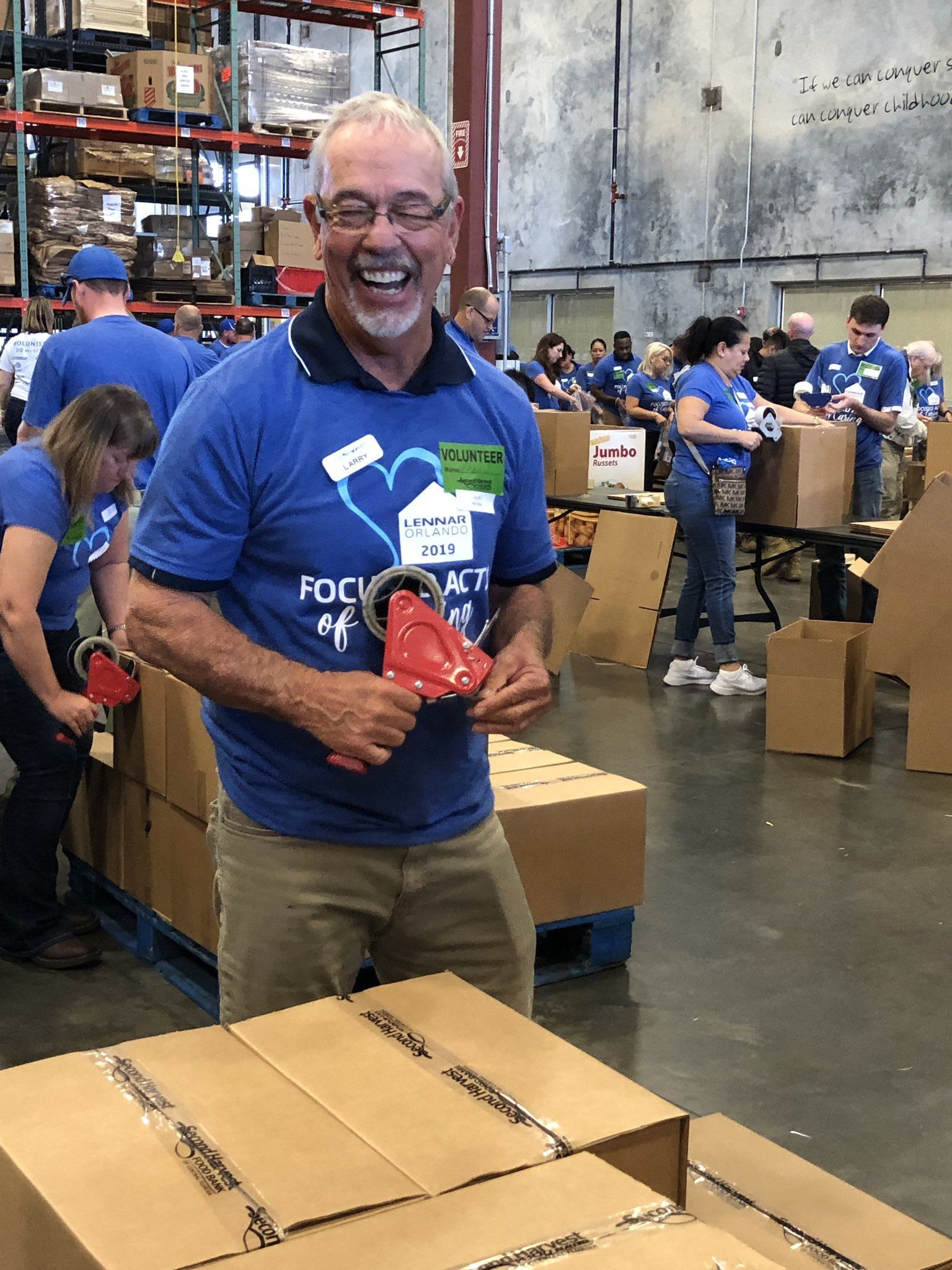 The Lennar Orlando Team Spent Their Morning At The Second Harvest Food Bank Of Central Florida Giving B Boys And Girls Club Girls Club Second Harvest Food Bank