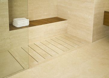 Shower Tray With Stone Staves Modern Showers Other