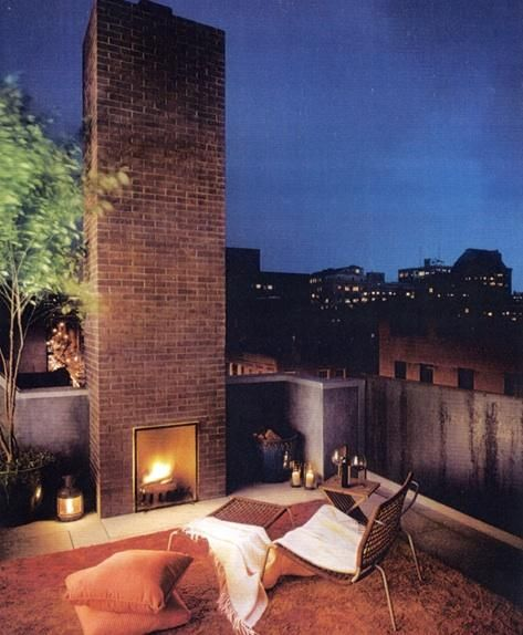 Rooftop fireplace. I died and went to heaven.