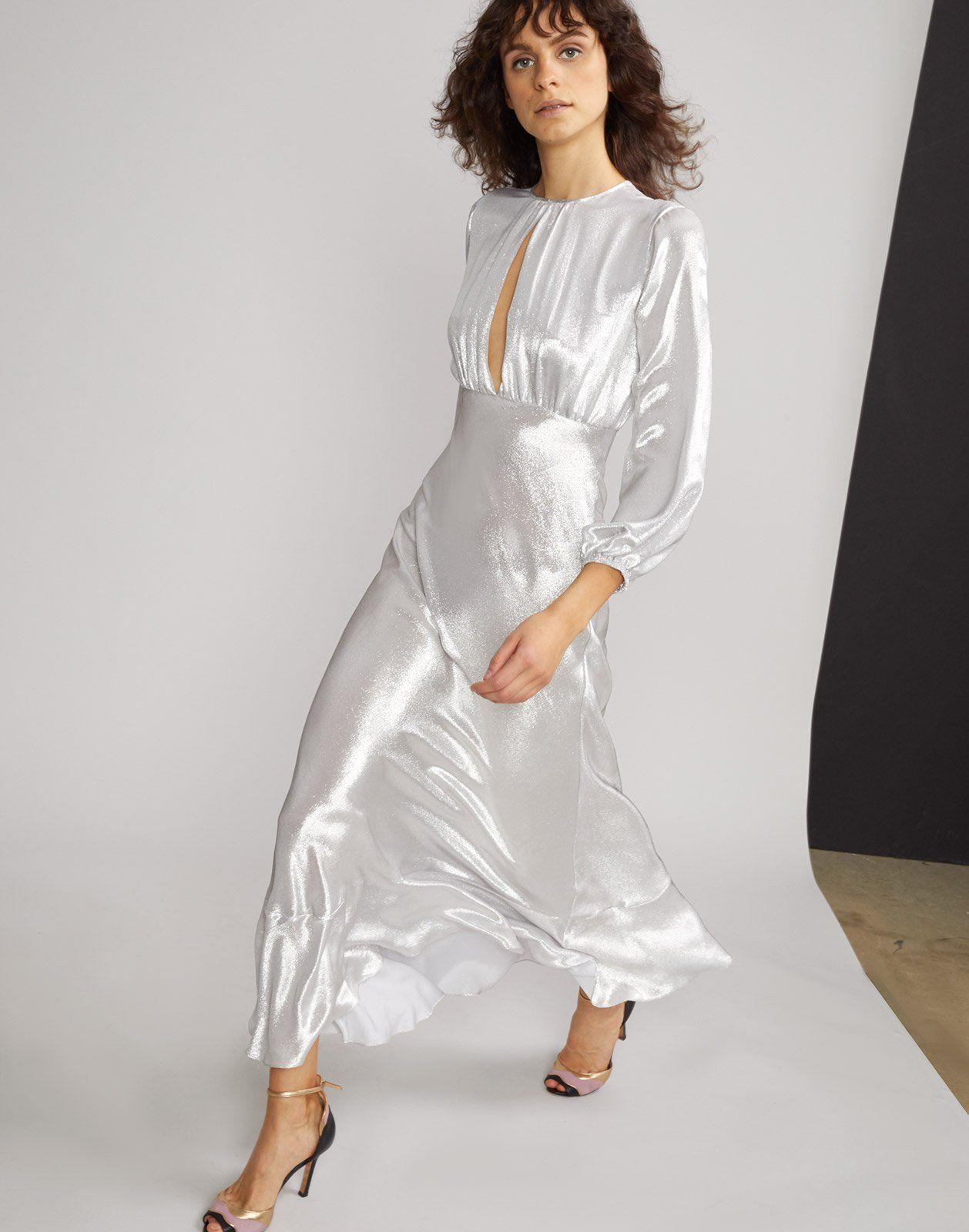ffe067b2661b Silver Lake Metallic Maxi Dress in 2019