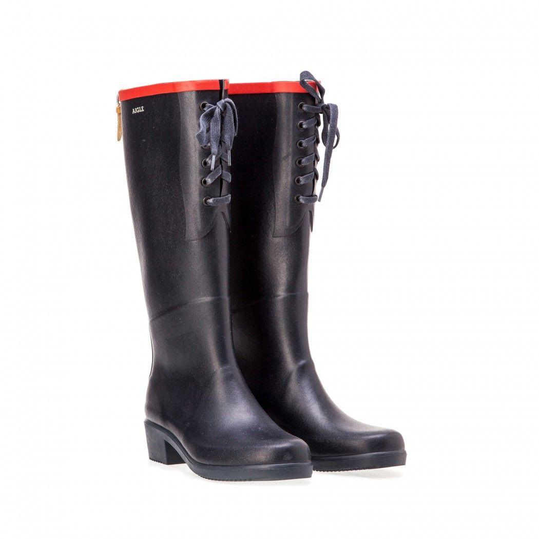 Femme Juliette Marinerouge Lacets Aigle Bottes Chaussures Miss n68qOzA6xw