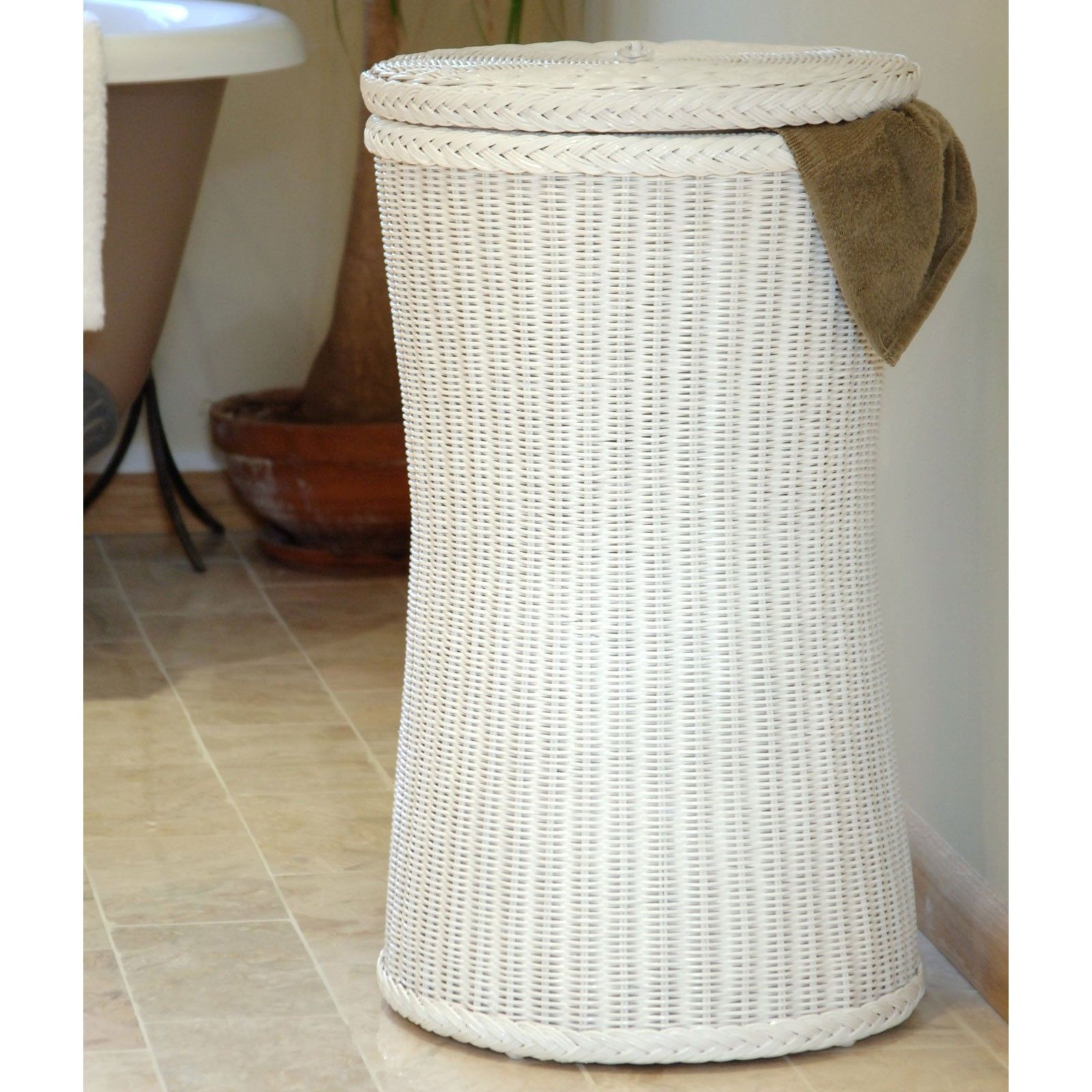 Tall White Wicker Linen Basket White Wicker Laundry Basket