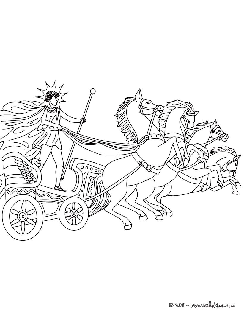 HELIOS the greek titan god of the sun coloring page   Μυθολογία ...