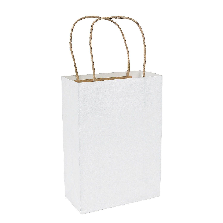 White Medium Craft Bags Orientaltrading 6 25 Per Dozen 9 X 1