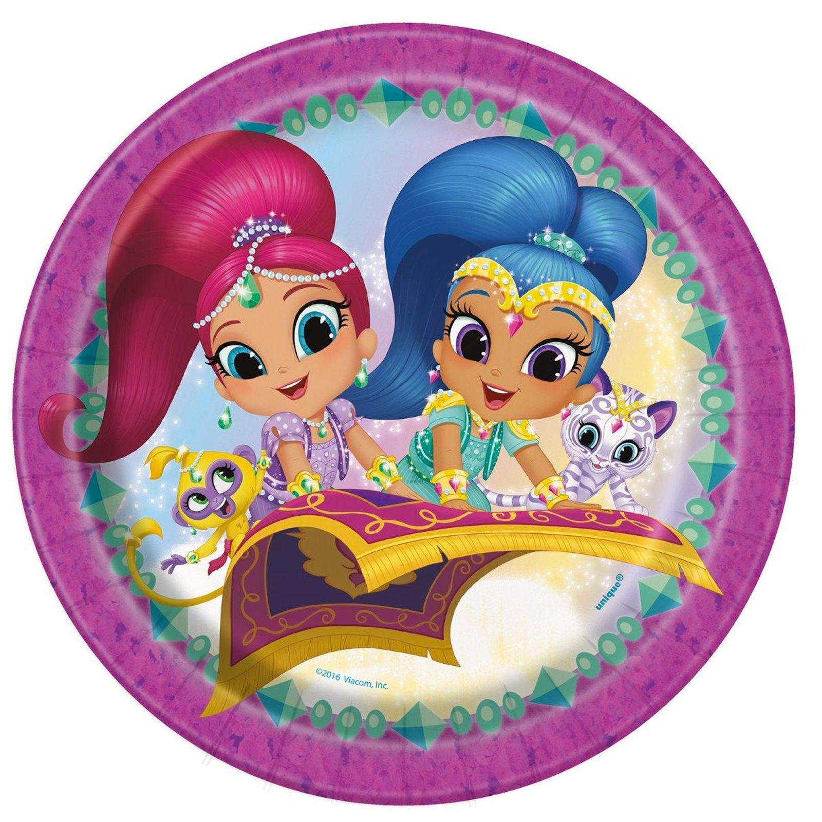 Shimmer Shine Round Plates 8 From Birthdayexpress Com Feestjes Afbeeldingen Activiteiten