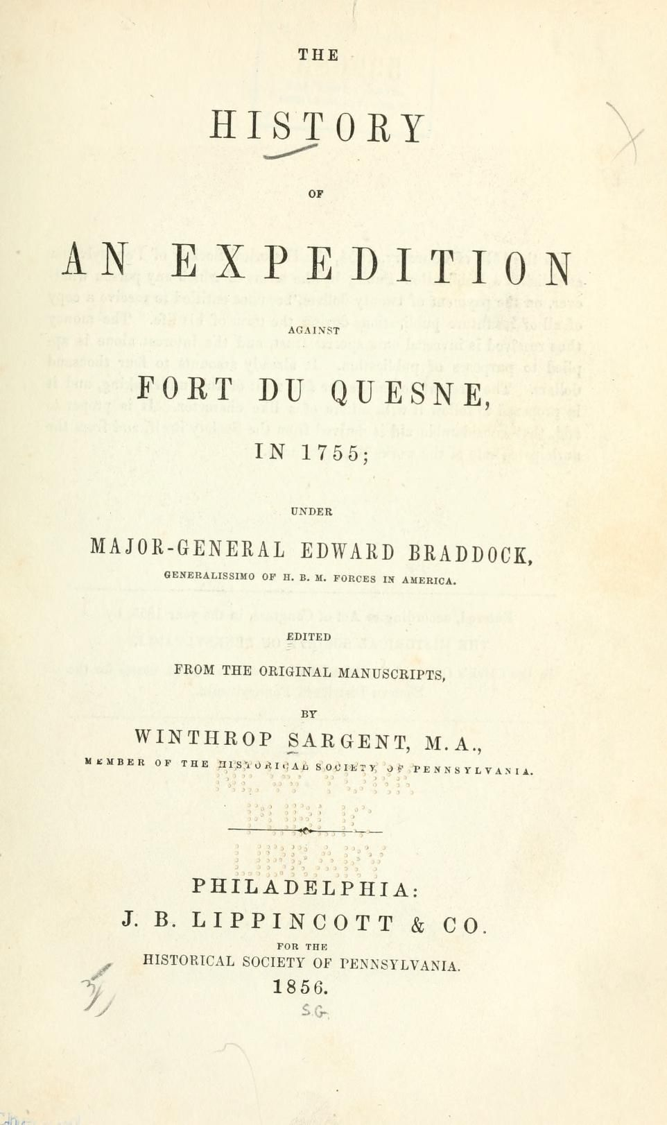 The history of an expedition against Fort Du Qu...
