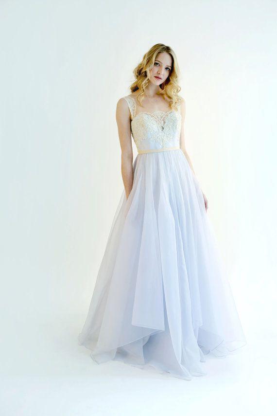 Probe Verkauf Marion Kleid in blau mit von LeanneMarshallNYC ...