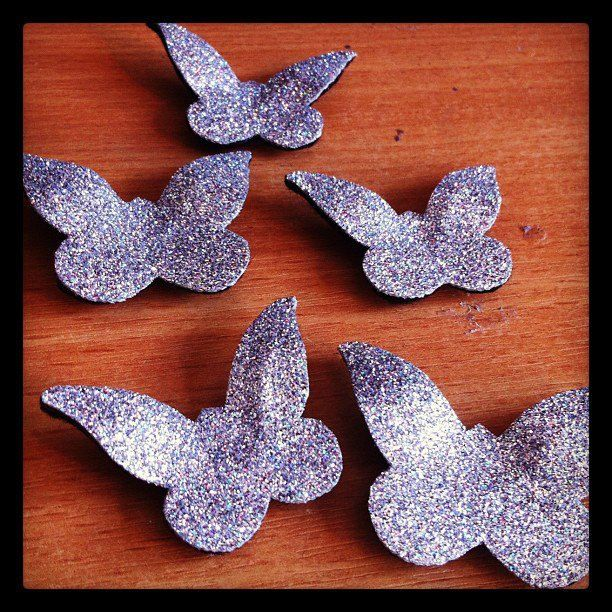Butterfly Hair Adornments, Floating Hair Accessory, Glitter. £19.00, via Etsy.