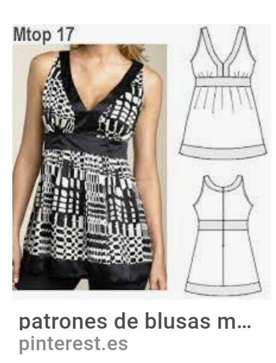 f7a69ea43 patrones de blusas modernas. …