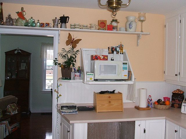134 kitchen in crisp straw benjamin moore peach paint - Peach color kitchen ...