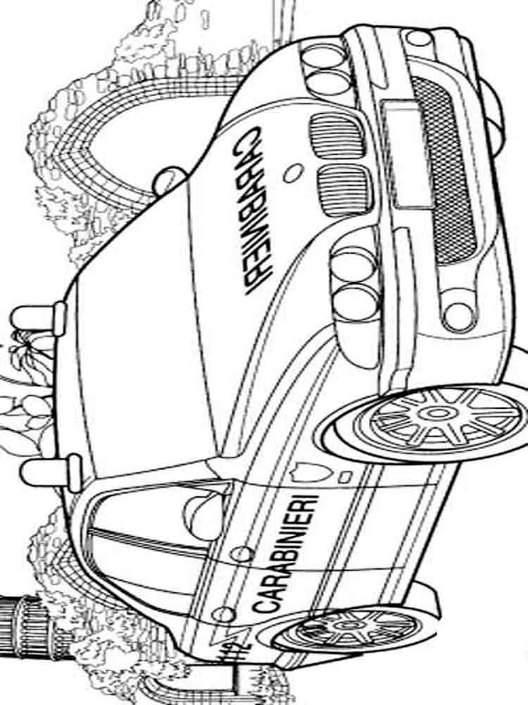 police cars coloring pages transportation vehicles