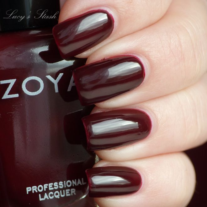Zoya Sam, great color to try. I normally do not wear dark nail ...