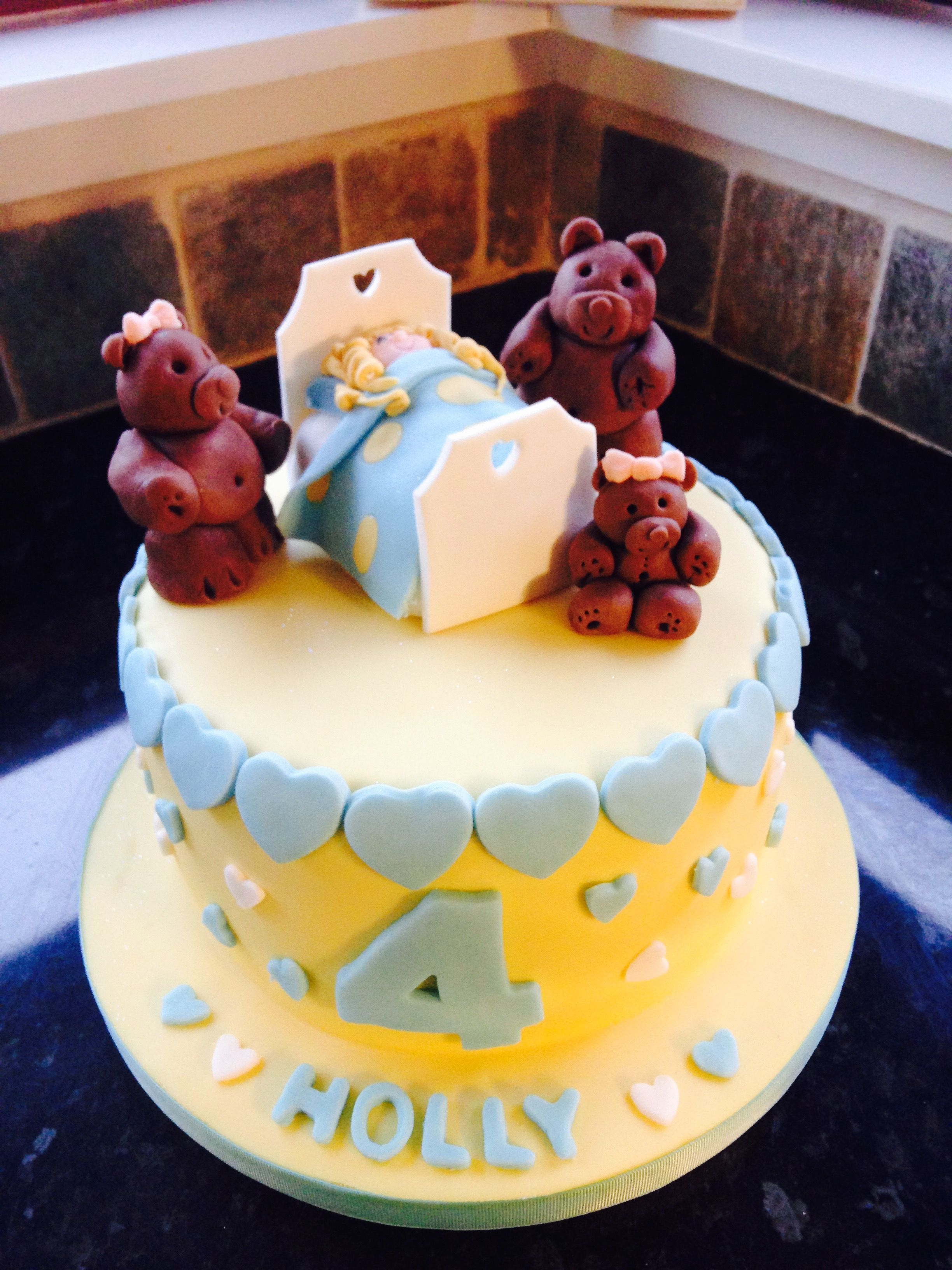 Goldilocks And The 3 Bears Birthday Cake Cakes Birthday Cake