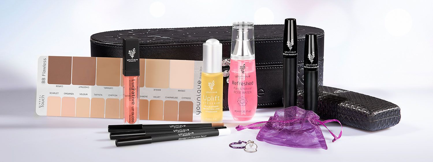 Presenter's kit has all the best products Younique has to offer including our 3D Fiber Lash Mascara!!!  Join for $99 and have full access for sharing this makeup and get awesome discounts and perks too!