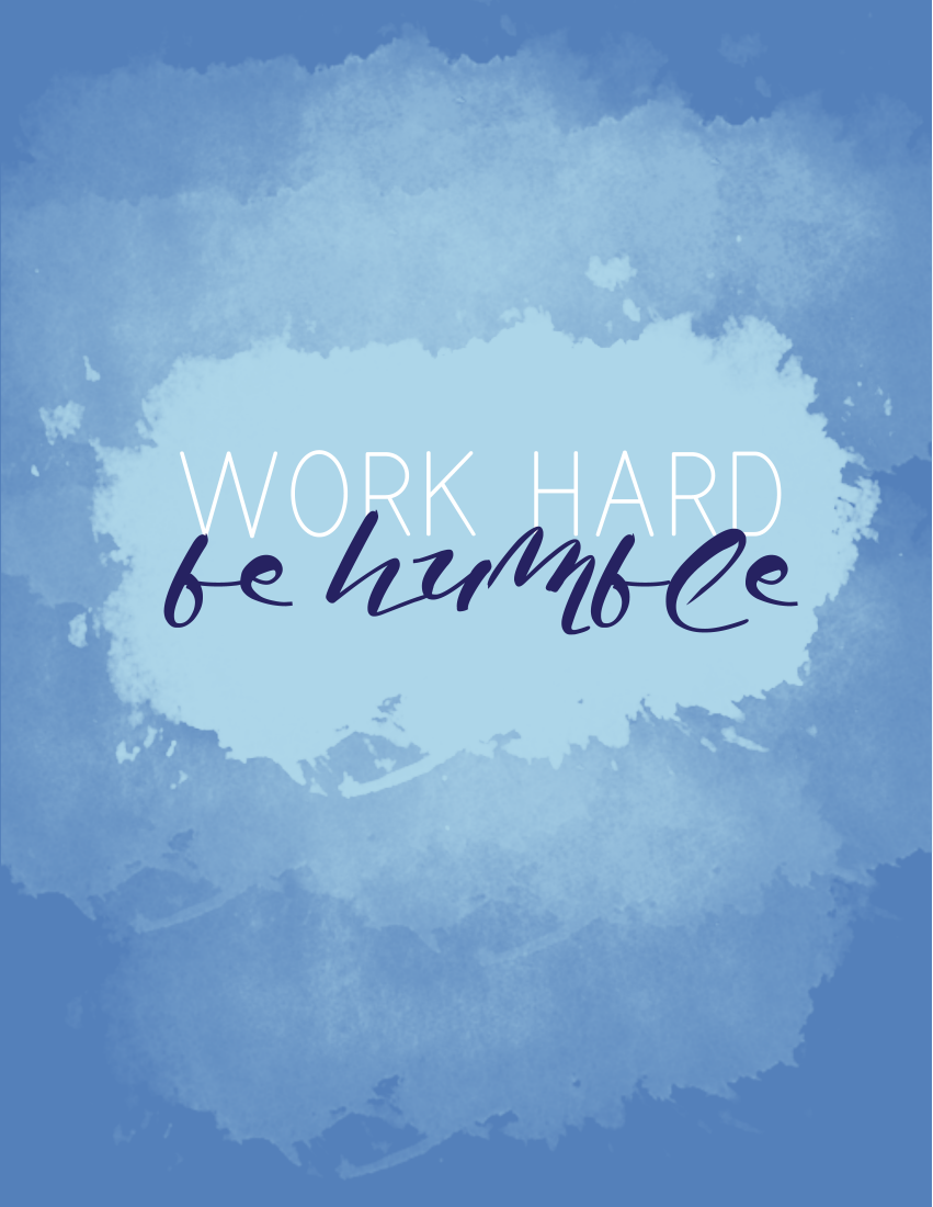Friday's Fab Freebie this week is 'Work Hard Be Humble'