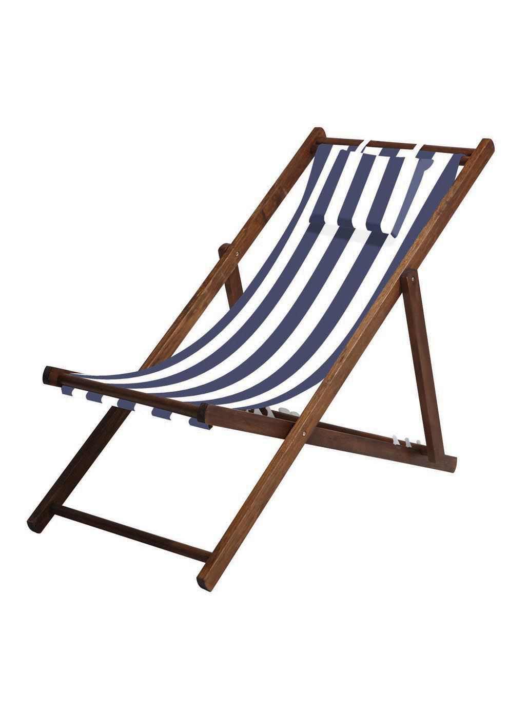 Striped Deck Chair For Around Pool