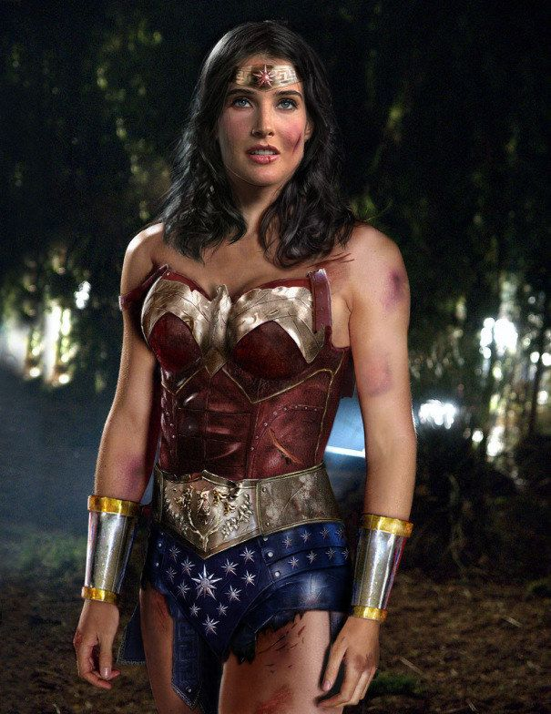 Cobie Smulders as Wonder Woman  fcdc4685caeb