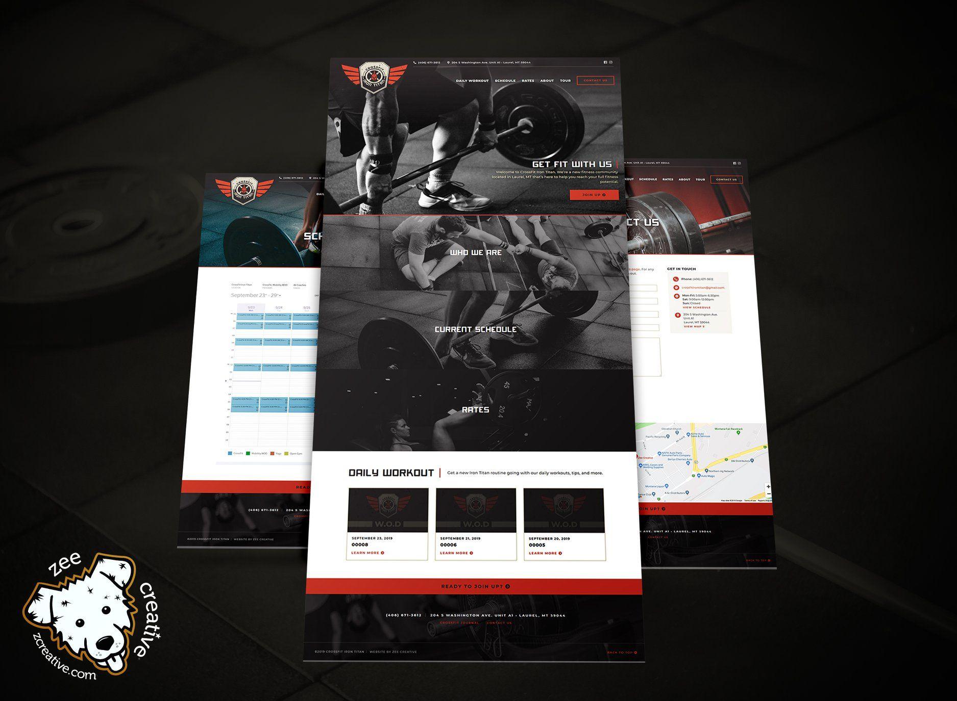 Crossfit Iron Titan In 2020 Wordpress Website Design Website
