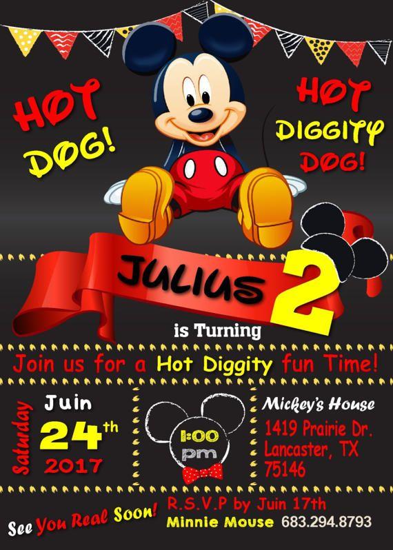 Mickey Mouse Birthday InvitationMickey MouseMickey