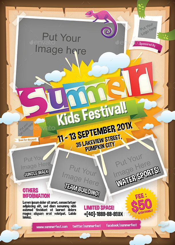 Summer Camp Flyer Template Kids Summer Camp Premium Business Flyer