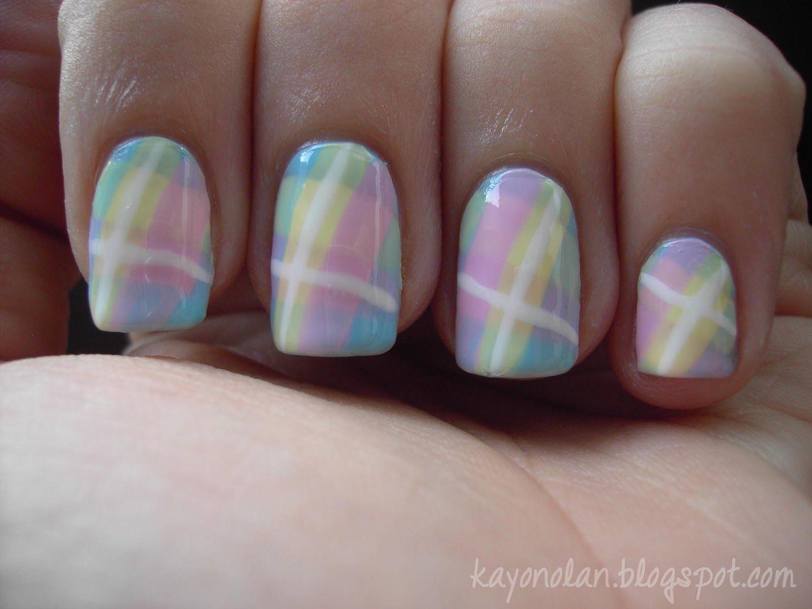 Pastel check nailart gorgeous nails pinterest pastels