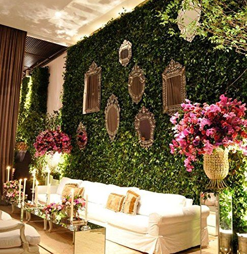 amazon com artificial boxwood topiary hedge plant on interior using artificial boxwood panels with flowers id=36961