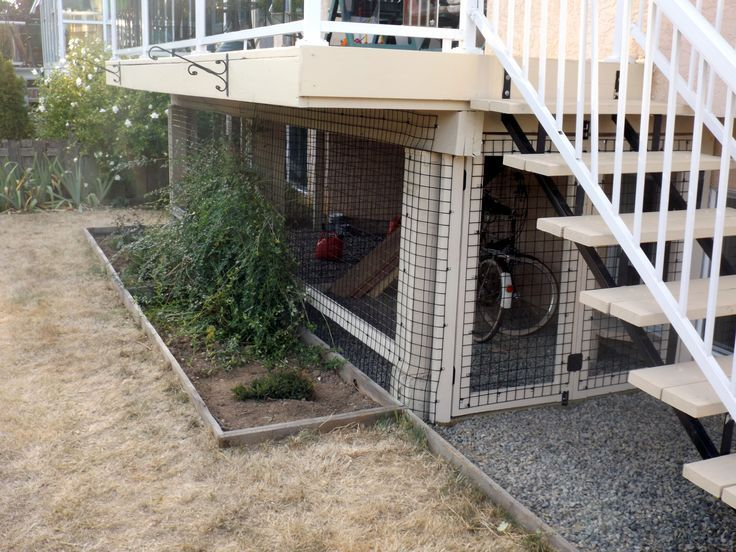 A Great Looking Under A Deck Enclosure That Can Be Used For Cats