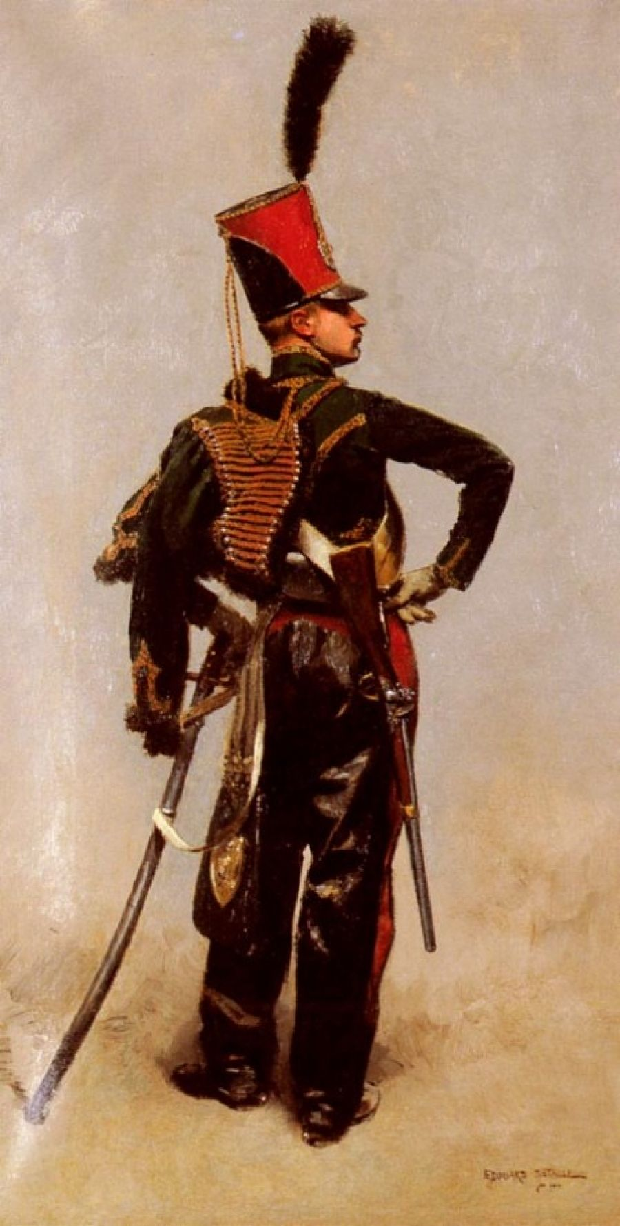 French Hussar By Edouard Detaille Hussar Military Art French Army