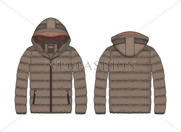 131d9d88cb Women Outdoor Puffer Jacket Template @creativew…   Illustrations ...