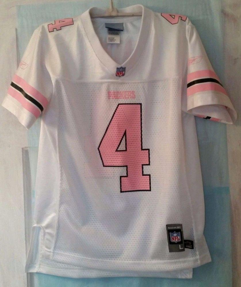 huge selection of 1157c e96df Reebok Brett Favre #4 NFL Football Jersey Youth SZ L 14 Pink ...