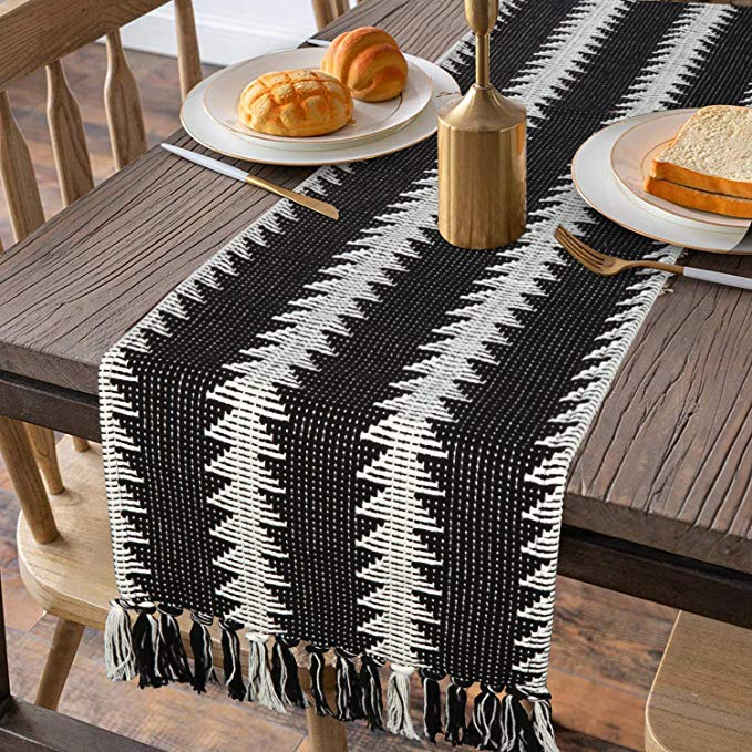 Amazon Com Moroccan Fringe Table Runner 14 In X 72 In Kimode