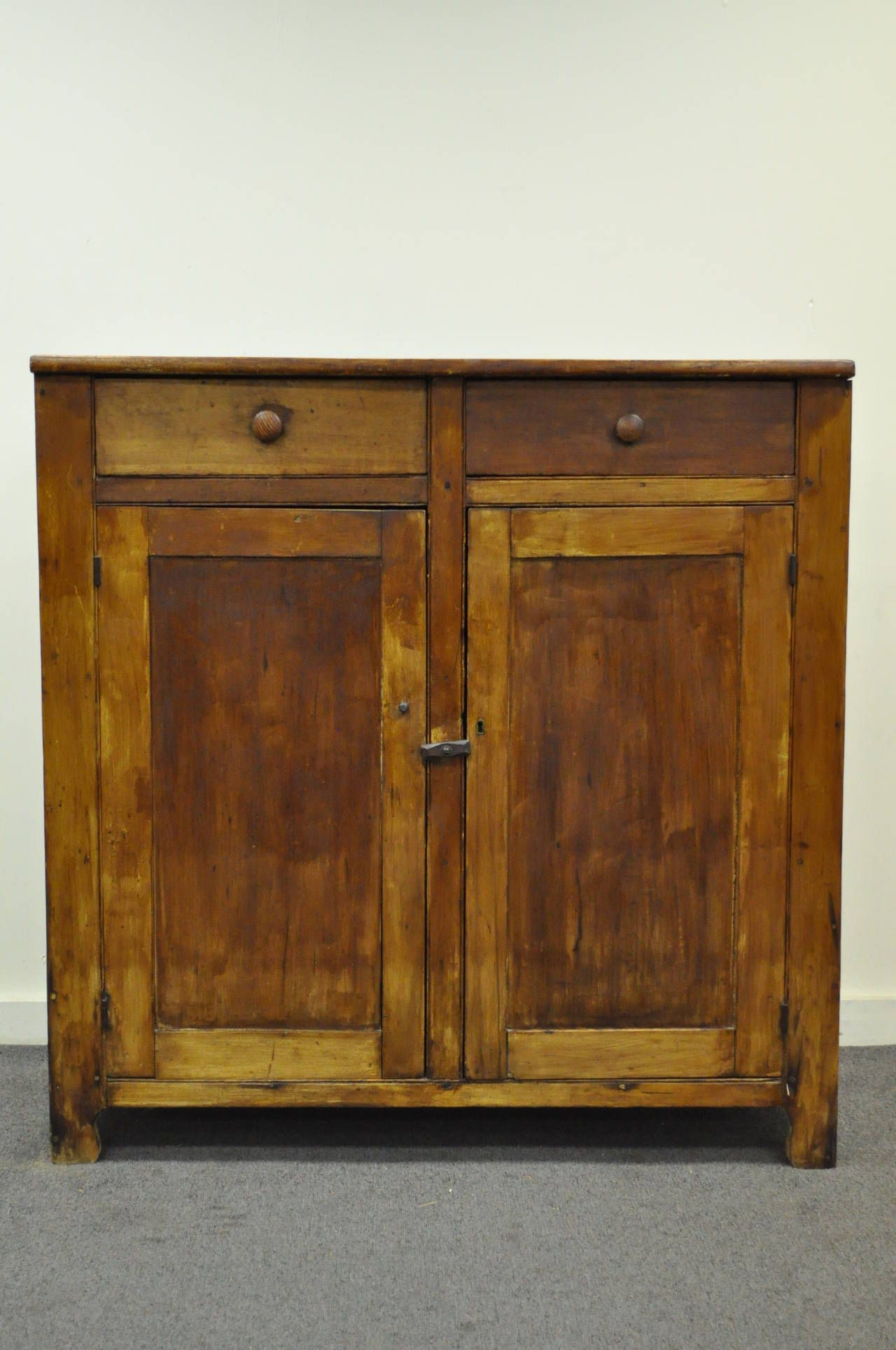 Primitive Rustic Pine Hand Dovetail Joined Jelly Cupboard Pantry Kitchen Cabinet Kitchen Cabinets For Sale Master Bedroom Furniture Farmhouse Decor Living Room