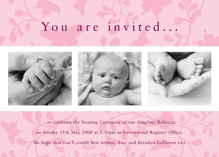 Baptism Invitations Gift and Craft Personalised Christening – Baptism Invitations Cards