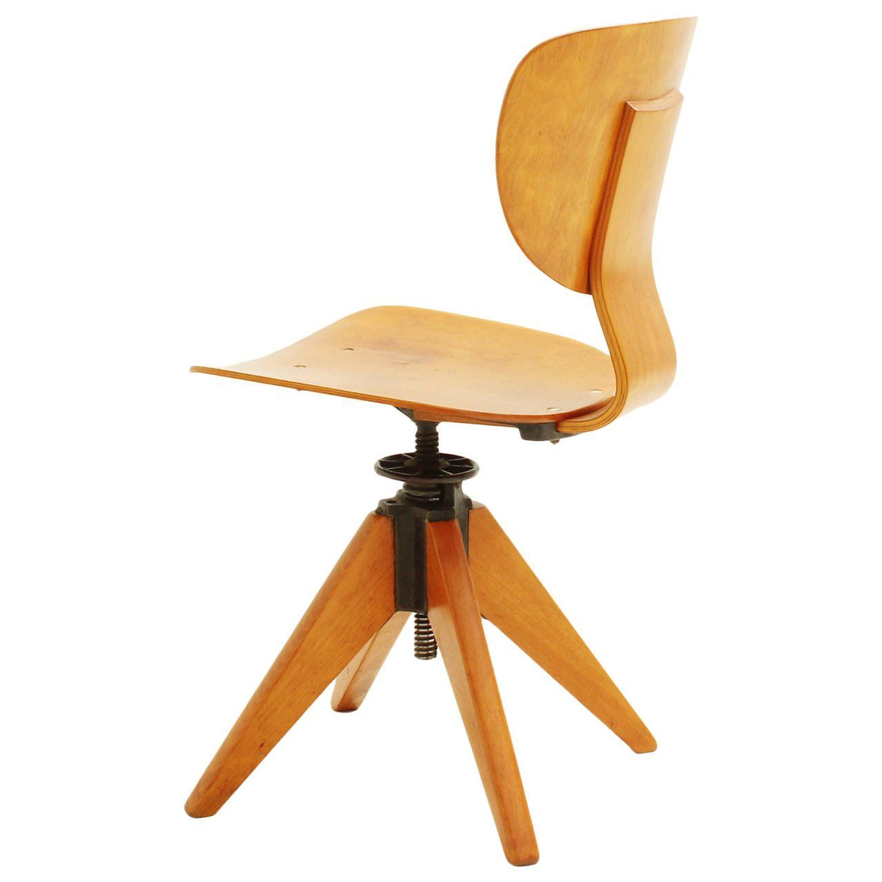 Awesome Early 1950S Office Plywood Chair Bedroom Plywood Chair Uwap Interior Chair Design Uwaporg