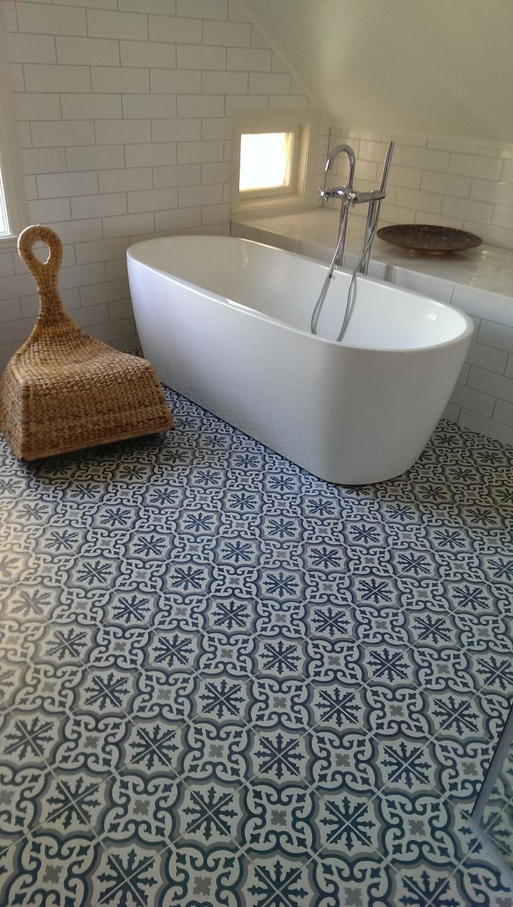 Leva no last name given 2014 september 08 patterned tile white tile black grout and beautiful patterned floor tiles dailygadgetfo Gallery