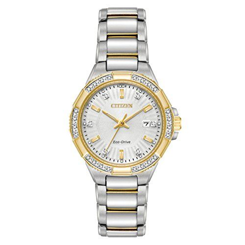 4f1f638cbbd Citizen Watches Womens EW246455A EcoDrive TwoTone Watch   Click on the  image for additional details. (This is an affiliate link)