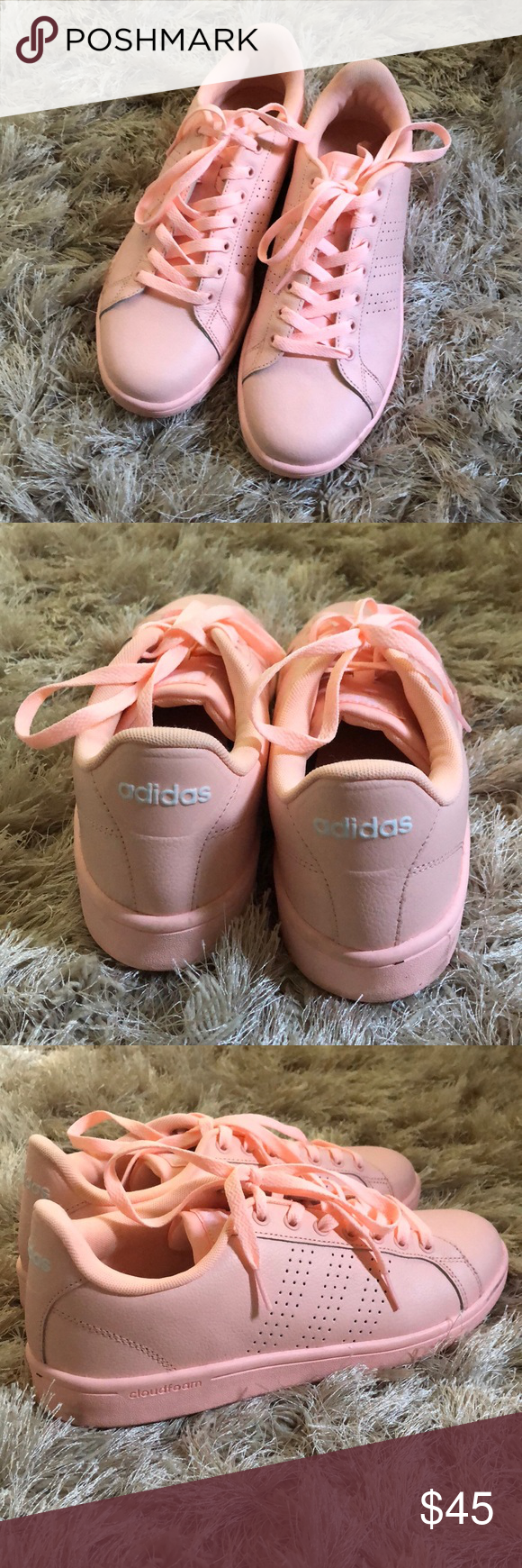 adidas neo pink sneakers