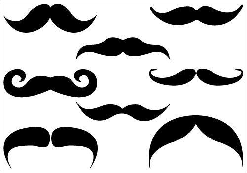 mustache silhouette clip art clipart best clipart best vbs rh pinterest com clipart moustache free vector clip art mustache image