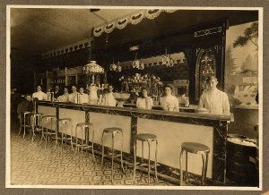 Soda Fountain Stools In Wichita Kansas 1902 Soda Fountain