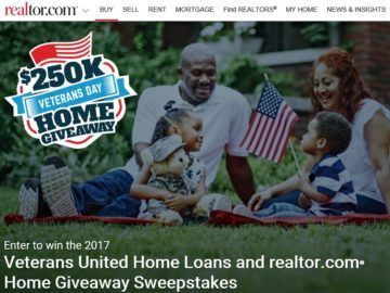 Veterans United Home Loans and Realtor.com Home Give-Away Sweepstakes