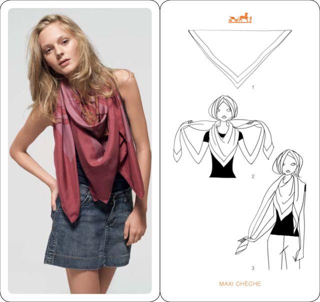 nouer son foulard autour du cou   Foulards   Pinterest   Foulard ... 580b1a96067