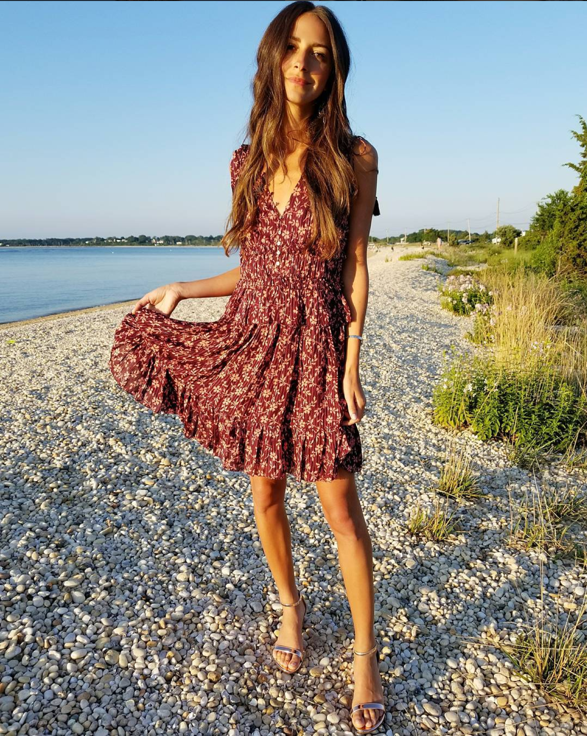 4c2e8939dcecf Arielle Charnas from Something Navy is wearing Ulla Johnson Noelle dress