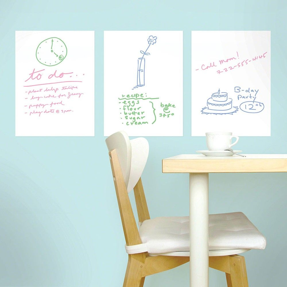 Mini Dry Erase Decals Chalkboard Wall Decal Simple Wall Decor