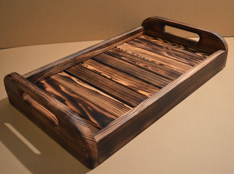 Rustic Serving Tray Breakfast Tray Rustic Breakfast By Artviks Wood Pallet Crafts Wood Pallet Art Rustic Serving Trays