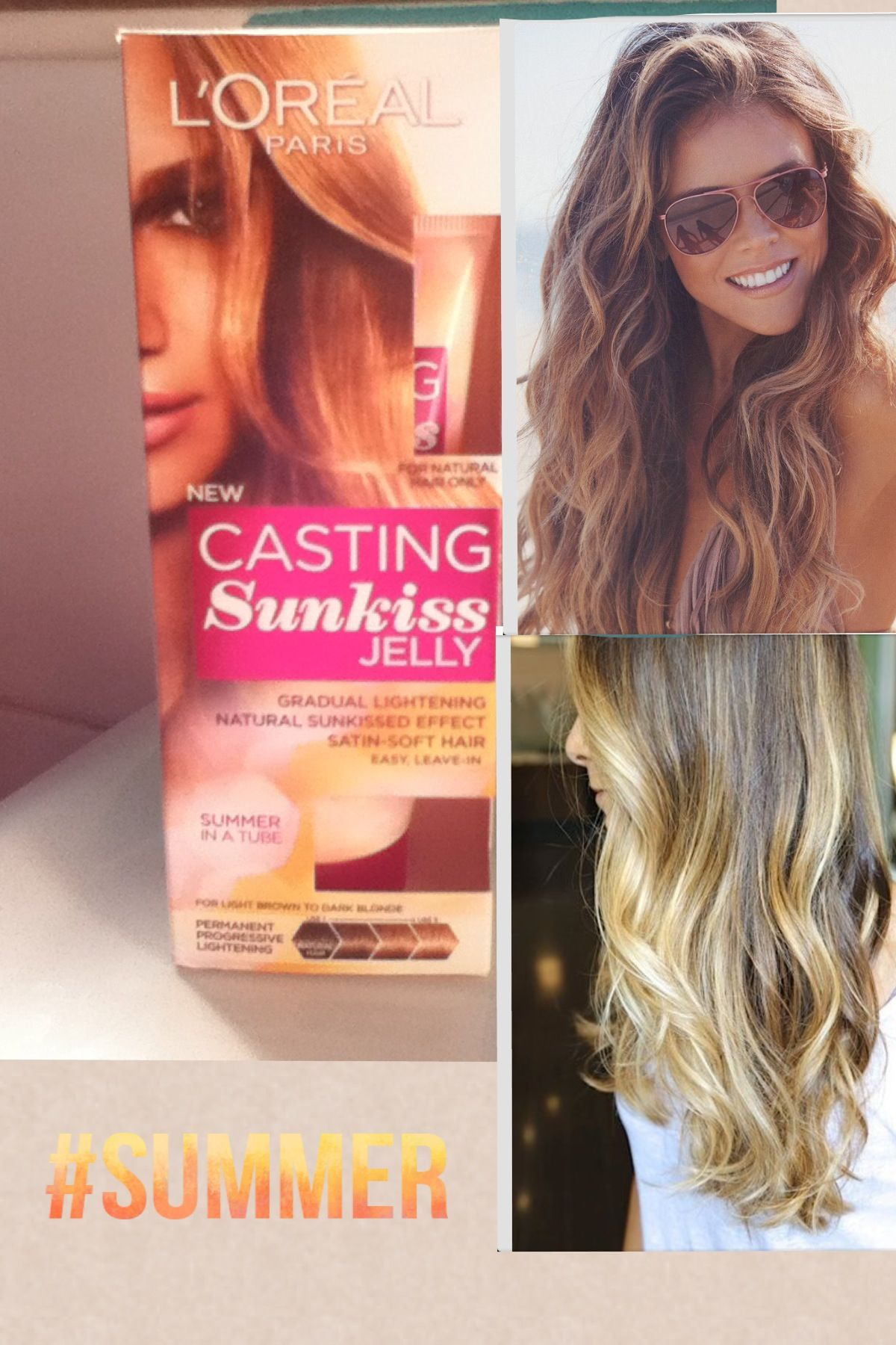 Love This L Oreal Sunkissed Jelly Naturally Lightens Your Hair For A Sunkissed Look Go All Over Or On Single Strands For Ombre High Hair Soft Hair Hair Styles