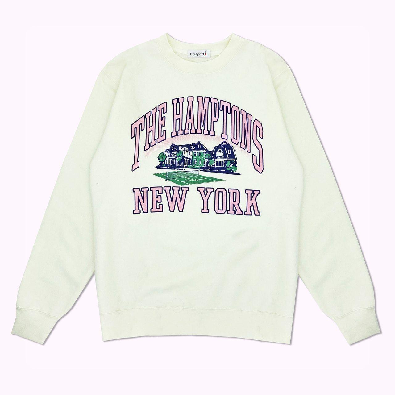 The Hamptons New York Crewneck Sweatshirt Artist Series Light Ivory In 2021 New York Sweatshirt Crew Neck Sweatshirt Sweatshirts [ 1280 x 1280 Pixel ]