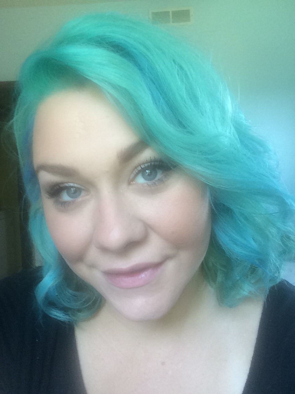 turquoise hair at the salon at ulta terre haute indiana hair