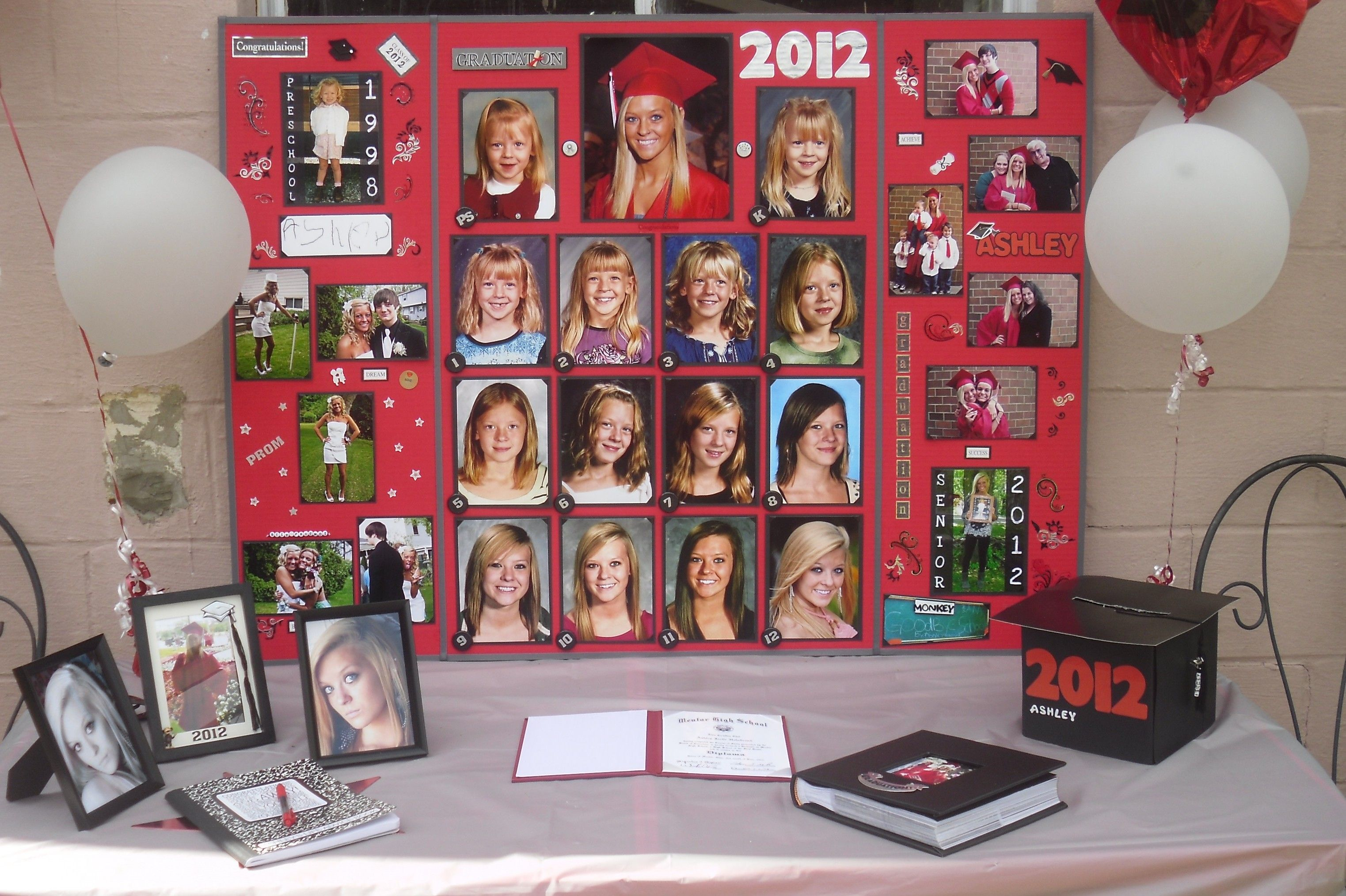 Picture Display Ideas For Party Graduation Display