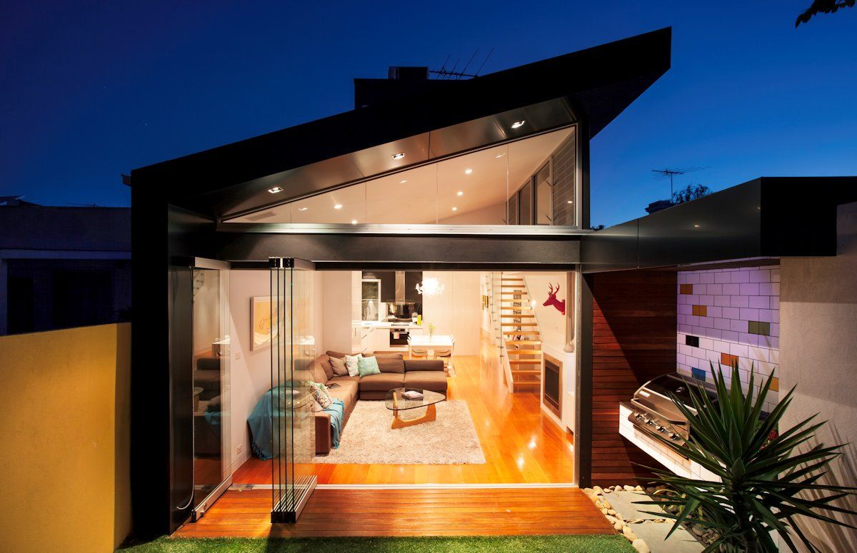 Victorian house colorful interiors for a classy exterior south yarra - Elsternwick Addition By Sketch Building Design 1 Re Framing Family Life In Updated Victorian Terrace House